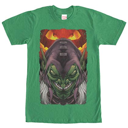 Spiderman Green Goblin Poster Green Mens T-Shirt