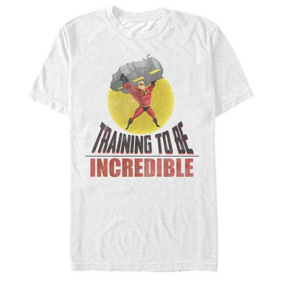 Disney Pixar The Incredibles Incredible Training White T-Shirt