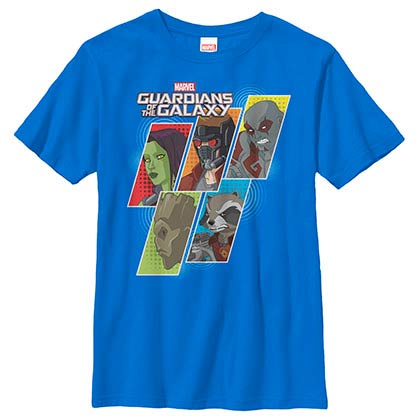 Guardians Of The Galaxy Slant Guardian Blue Youth T-Shirt