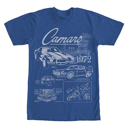 Chevrolet General Motors Blueprint Blue T-Shirt