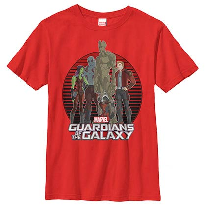 Guardians Of The Galaxy Guardian Glare Red Youth T-Shirt