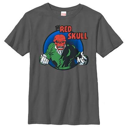 Captain America: Civil War RedSkull Badge Gray Youth T-Shirt
