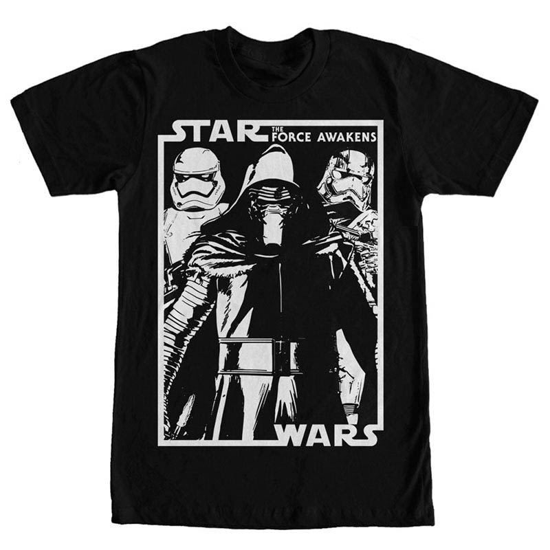 Star Wars Episode 7 Printed Black T-Shirt