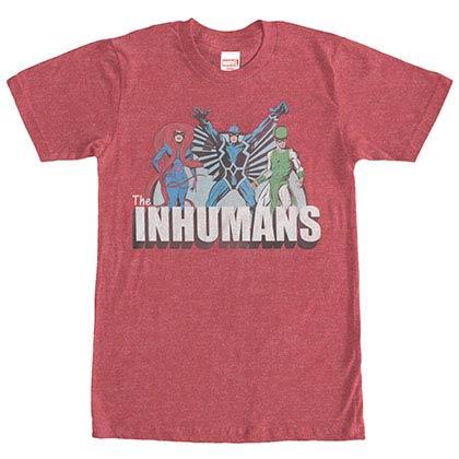 Marvel Teams Inhuman Groupshot Red Mens T-Shirt