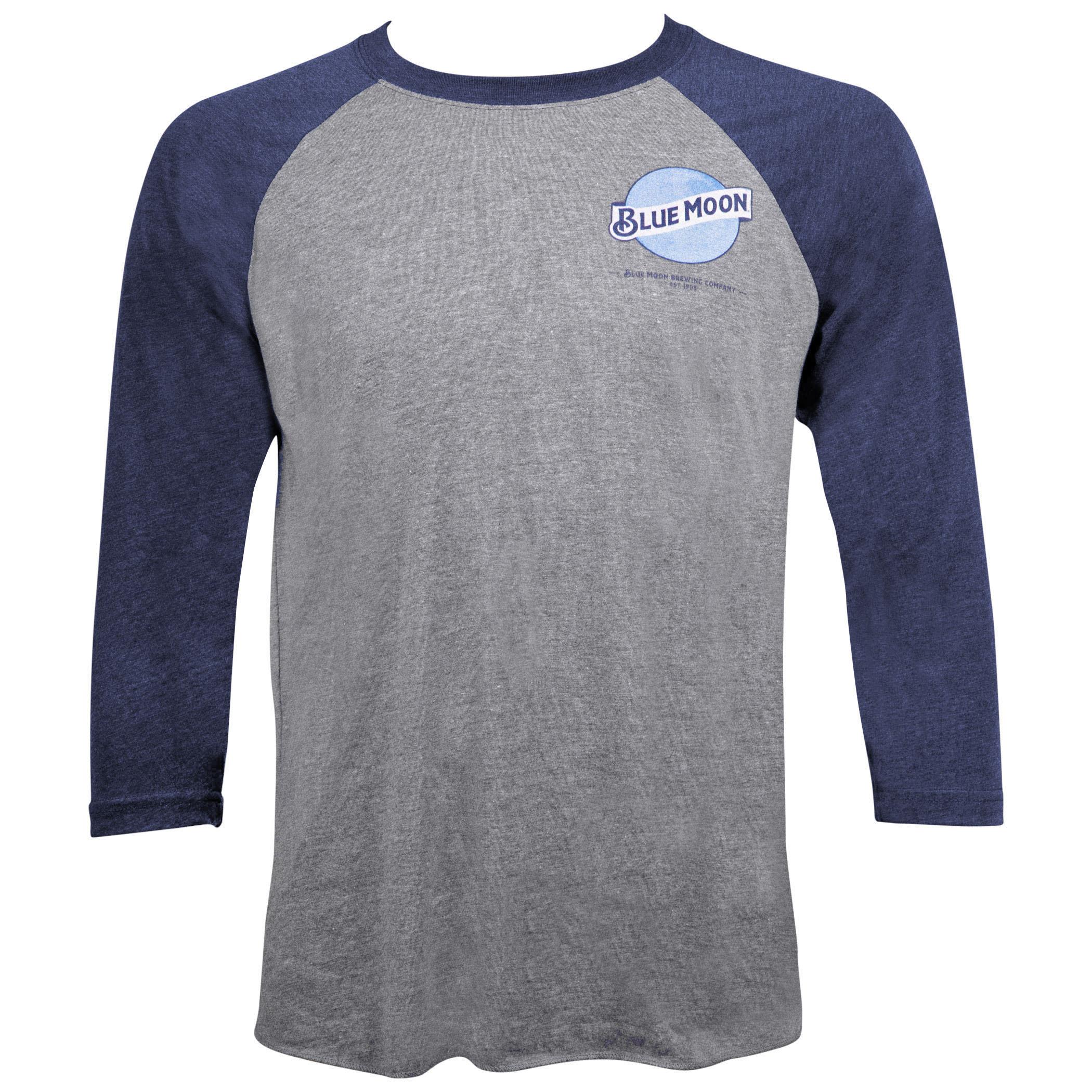 Blue Moon Raglan Chest Logo Shirt