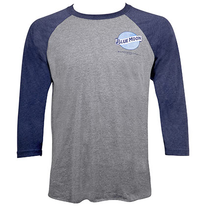 Blue Moon Raglan Chest Logo Shirt