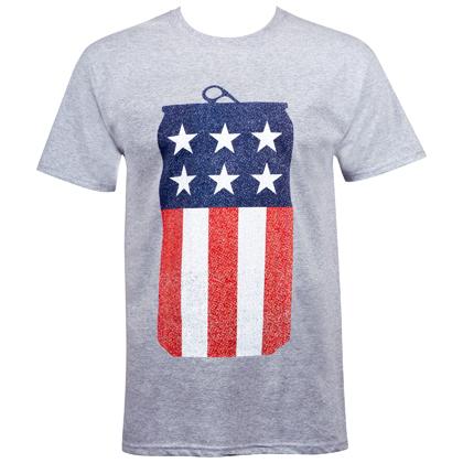 Miller Lite American Flag Can Tshirt