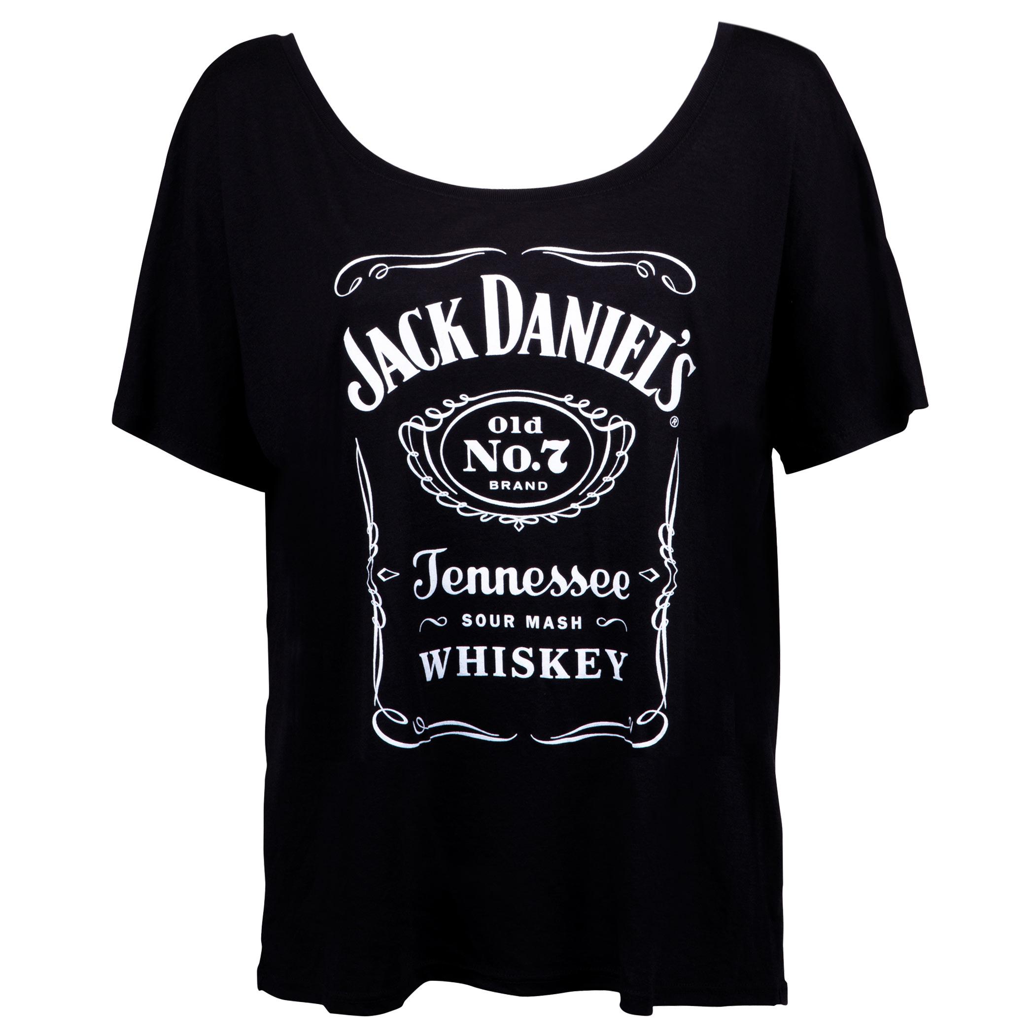 Jack Daniels Bottle Label Loose Fit Women's  Tshirt