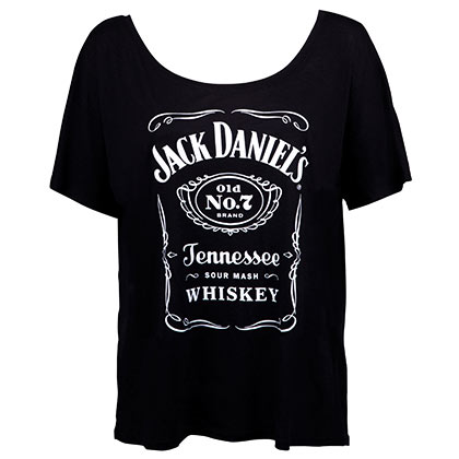 44c1fe5f40ce41 Jack Daniels Loose Fit Women s Bottle Label Tshirt