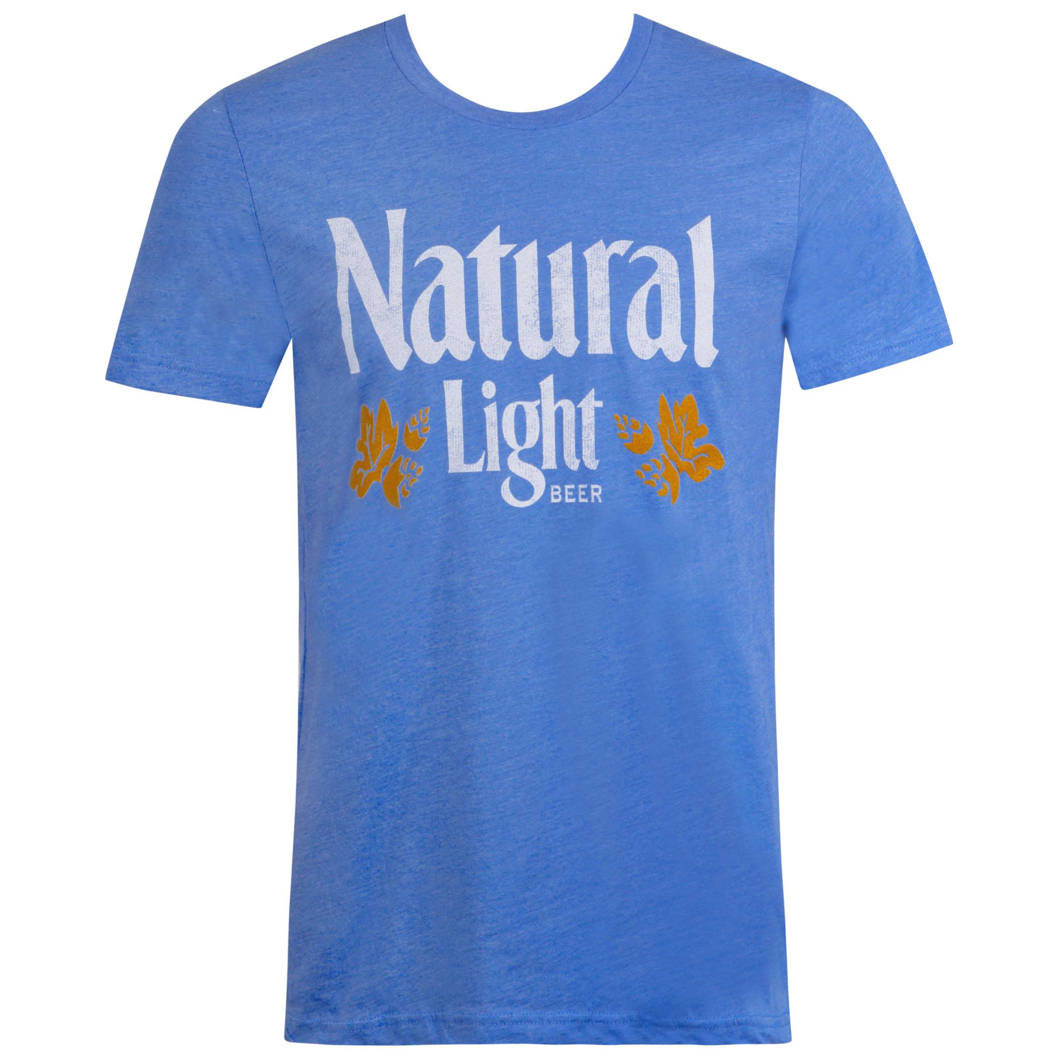 Natural Light Men's Blue Vintage Logo T-Shirt