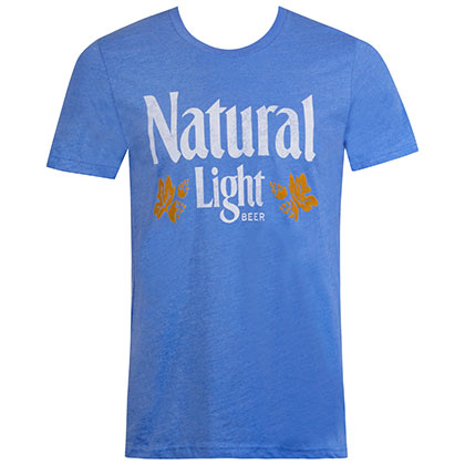 Natural Light Men's Blue Vintage Logo T-Shirt