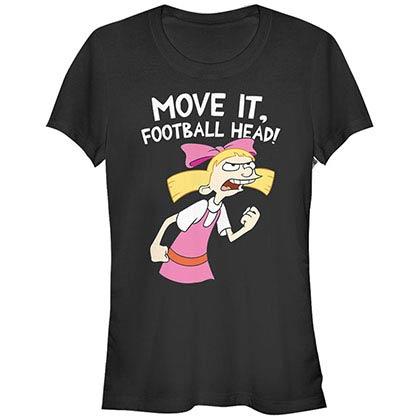 Hey Arnold Nickelodeon Move It Black T-Shirt