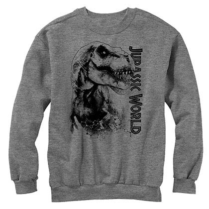 Jurassic World Da Man Gray Long Sleeve T-Shirt