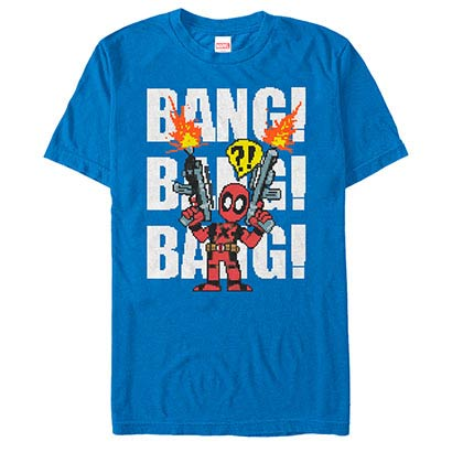 Deadpool Taco Pile Blue Mens T-Shirt