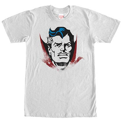 Dr. Strange Dr. Head White Mens T-Shirt
