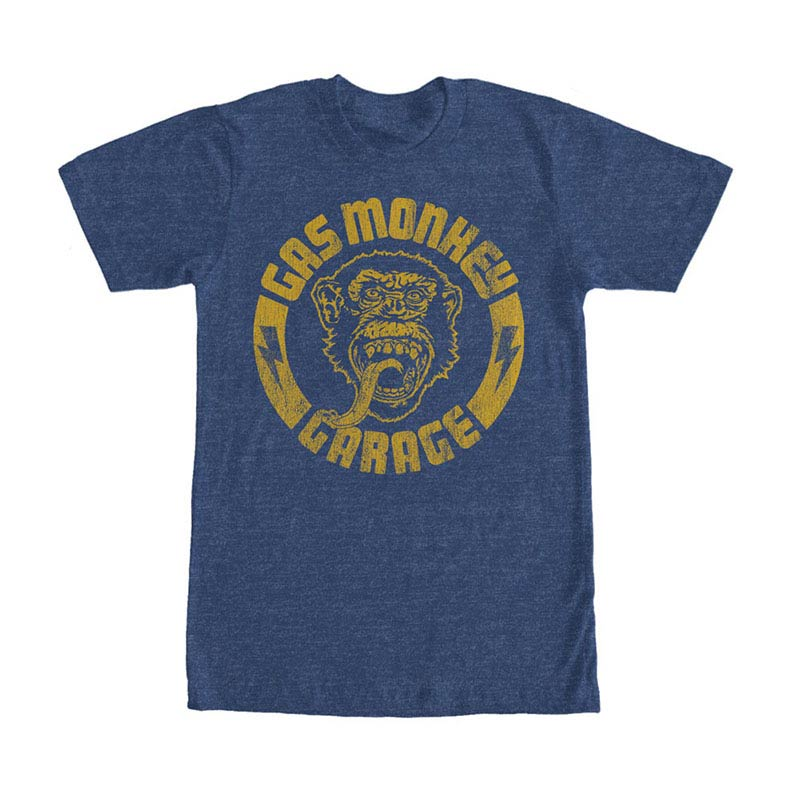 Gas Monkey Garage Monkey Stamp Blue T-Shirt