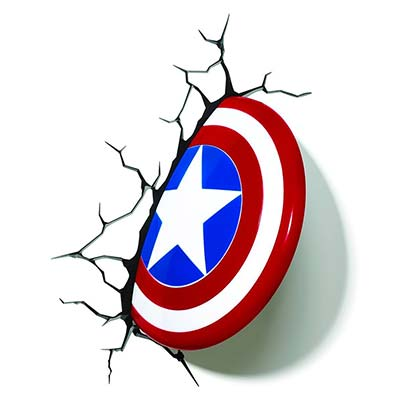 Captain America Comic 3D Night Light