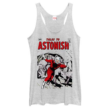 Ant-Man - Retro White Juniors Racerback Tank Top