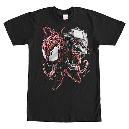 Spiderman Poison Black Mens T-Shirt