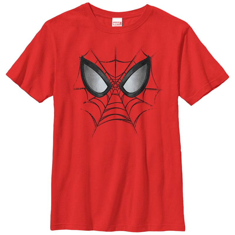 Spiderman Web Face Red Youth T-Shirt