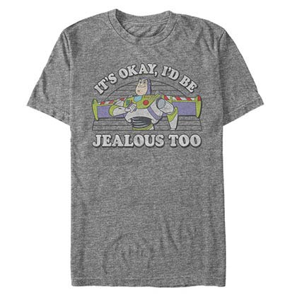 Disney Pixar Toy Story 1-3 Jealous Too Gray T-Shirt