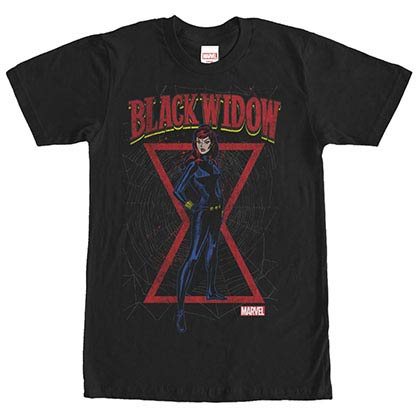 Avengers Black Web Black Mens T-Shirt