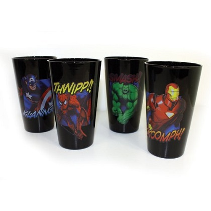 The Avengers Heroes 4 Pack Pint Glass Set