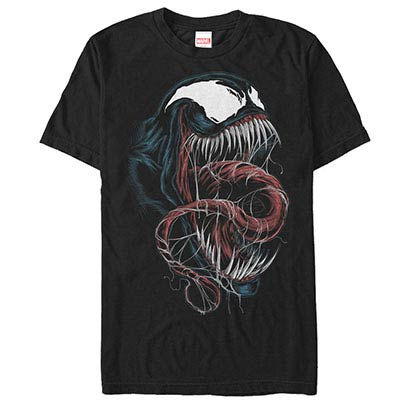 Spiderman Venom Black Mens T-Shirt