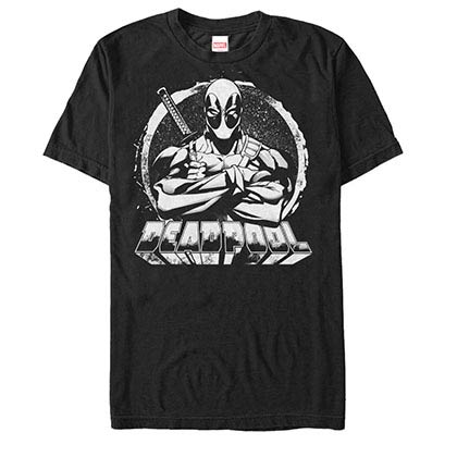 Deadpool For Hire Black Mens T-Shirt