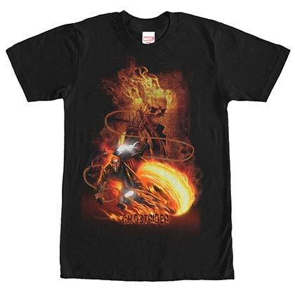 Ghost Rider Judgement Black Mens T-Shirt