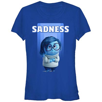Disney Pixar Inside Out Sadness Blue T-Shirt