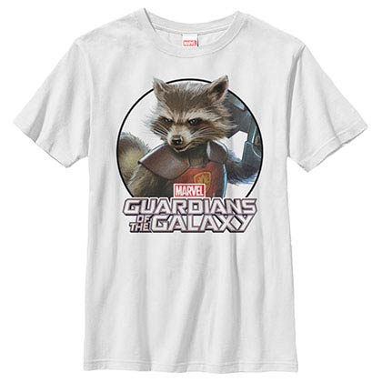 Guardians Of The Galaxy Dangerous Animal White Youth T-Shirt