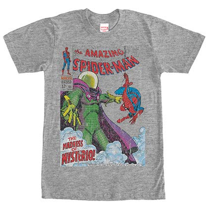 SpidermanComic Gray Mens T-Shirt