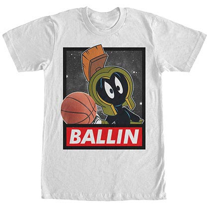 Looney Tunes Marvin Ballin White T-Shirt