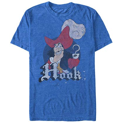 Disney Tinkerbell Hook Pride Blue T-Shirt