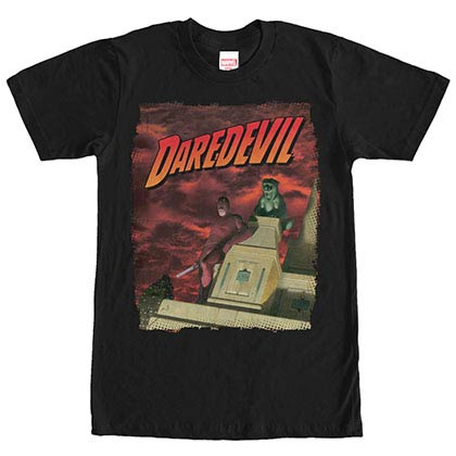 Daredevil Skyscraper Black Mens T-Shirt
