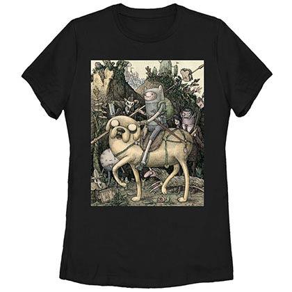 Adventure Time Lithograph Black T-Shirt