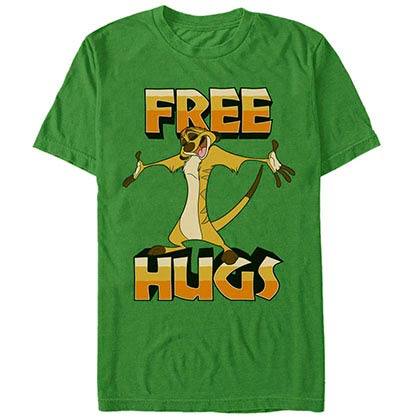 Disney Lion King Timon Hugs Green T-Shirt