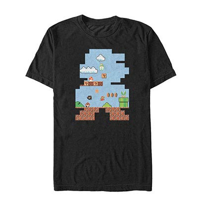 Nintendo Shape Up Black T-Shirt