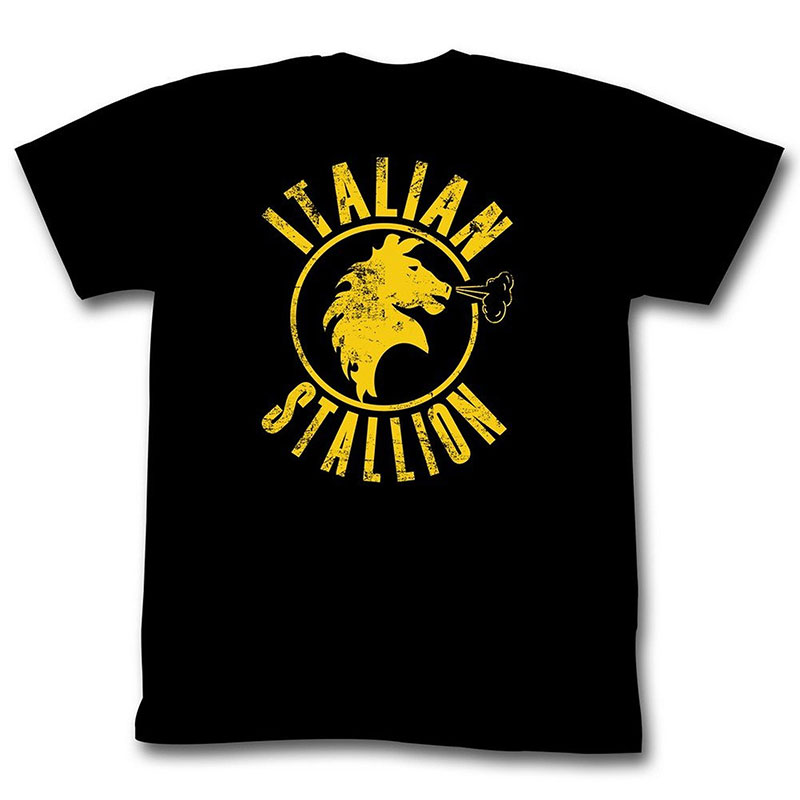 Rocky Italian Stallion Black Graphic Tee Shirt