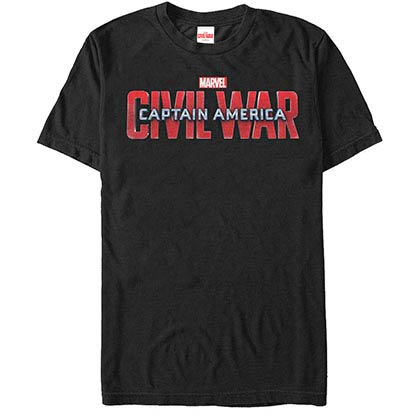 Captain America: Civil War Civil War Logo Black Mens T-Shirt