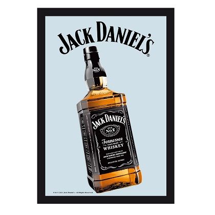 Jack Daniels Bottle 8x12 Bar Mirror