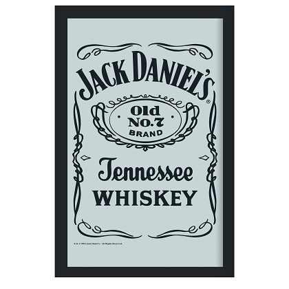 Jack Daniels Bottle Label 8x12 Bar Mirror