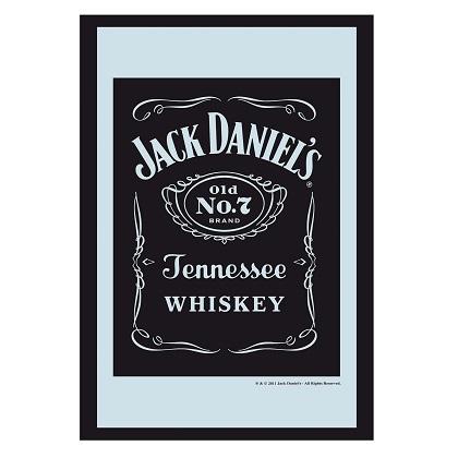 Jack Daniels Black Bottle Label 8x12 Bar Mirror
