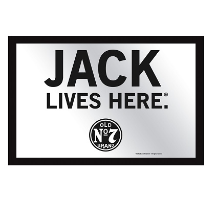 Jack Daniels Jack Lives Here 8x12 Bar Mirror