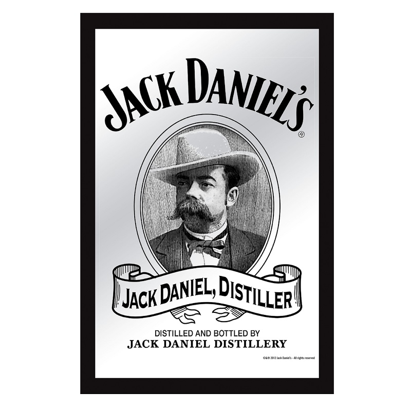 Jack Daniels Portrait 8x12 Bar Mirror