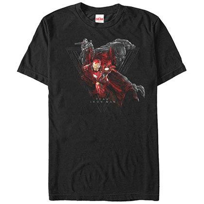 Iron Man Team Stark Black Mens T-Shirt