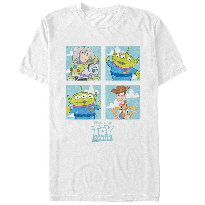 Disney Pixar Toy Story 1-3 Four Box White T-Shirt