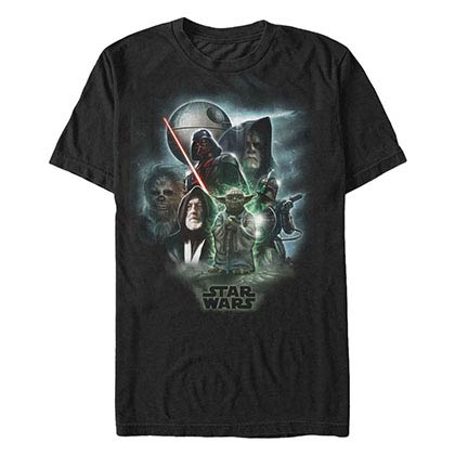 Star Wars Starwars Universe Black T-Shirt