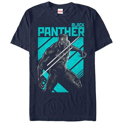 Black Panther Big Black Cat Blue Mens T-Shirt